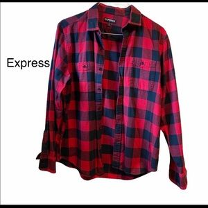 Express buy 2 $15 1 free red Flannel great cond